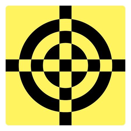 registration mark: Simple croshair symbol - illustration Illustration
