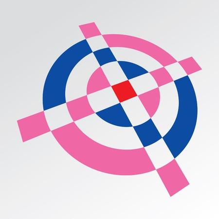 3d Simple croshair symbol - illustration