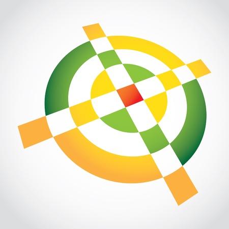 3d Simple croshair symbol - illustration Stock Vector - 12453996