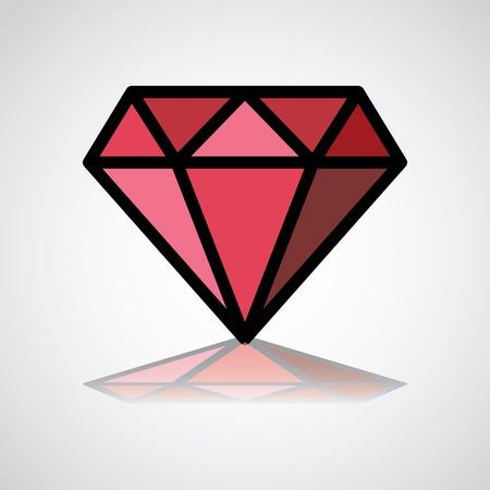 diamante: s�mbolo de diamante, icono del dise�o, la identidad de concepto - ilustraci�n Vectores