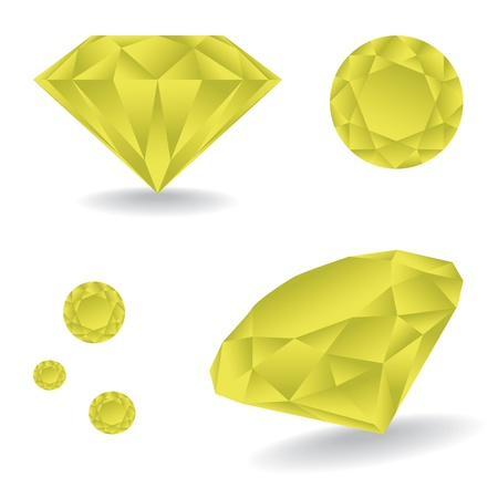unbreakable: Shiny diamond with shadow - illustration