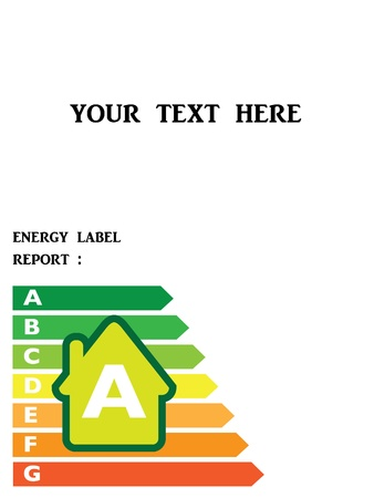 house diagram: energy efficiency label of house - illustration Illustration