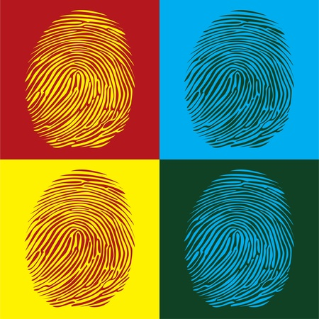 fingerprints detailed illustration pop art style Vector