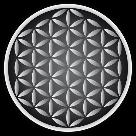 green life: flower of life symbol - illustration Illustration