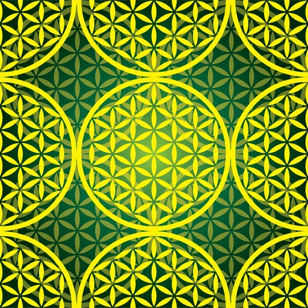 flower of life seamless pattern - illustration Vectores