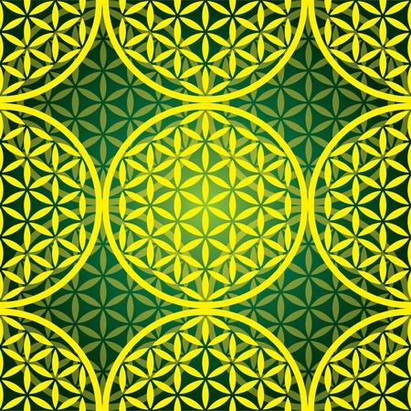 symol: flower of life seamless pattern - illustration Illustration