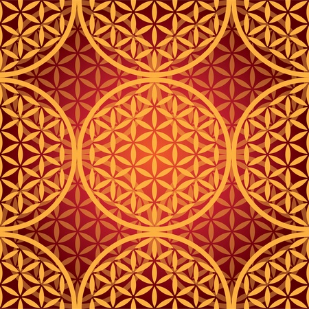 eps10 flower of life seamless pattern - illustration Vectores