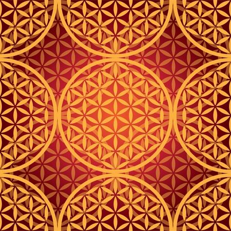 eps10 flower of life seamless pattern - illustration Иллюстрация