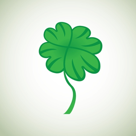 good nature: four leaf clover - illustration