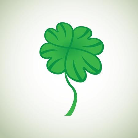 buena suerte: trébol de cuatro hojas - ilustración