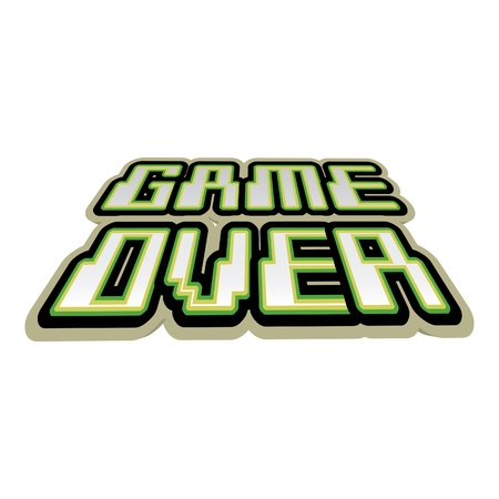 computer games: Game over concept of logo - illustration