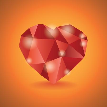 coeur diamant: R�sum� illustration coeur de diamant