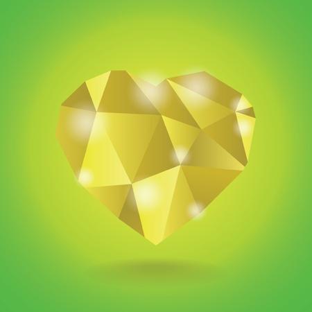 coeur diamant: R�sum� illustration c?ur de diamant