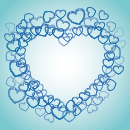 Heart from smaller outline hearts - illustration Stock Vector - 12450149