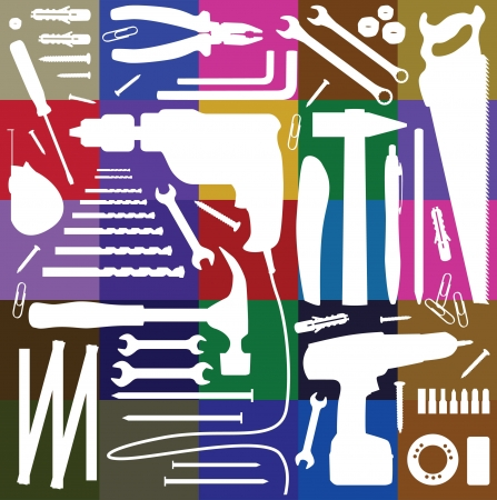 diy tool - silhouette illustration Иллюстрация