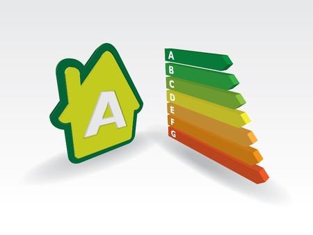 house energy effiency label  - illustration