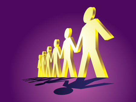 human figures in a row - illustration Stock Vector - 12454841