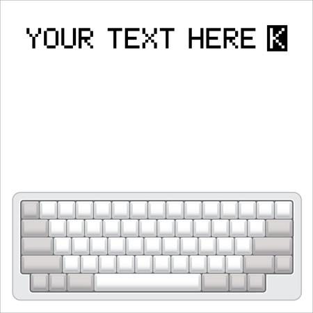 keyboard computer: de ordenador en blanco dise�o de teclado - ilustraci�n realista