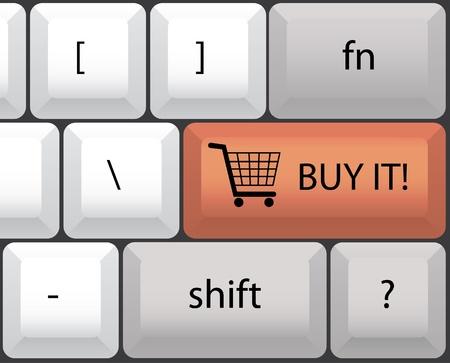 compre el teclado Ilustración de vector