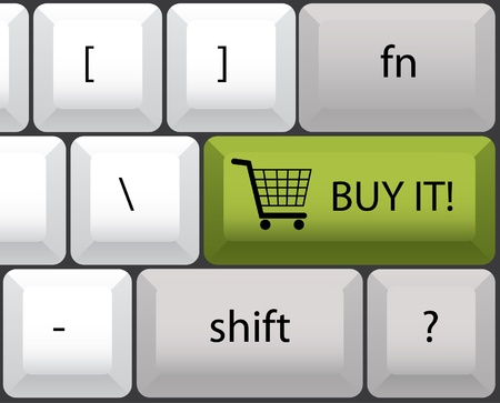 buy it keyboard illustration Stock Vector - 12453445