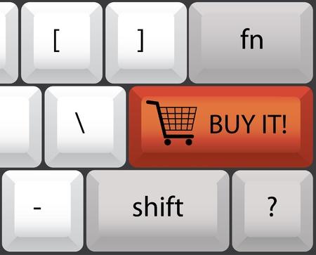 buy it keyboard illustration Stock Vector - 12453427