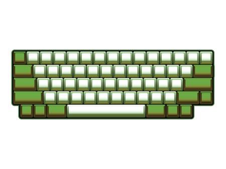 keys isolated: blank computer keyboard layout - realistic illustration Illustration