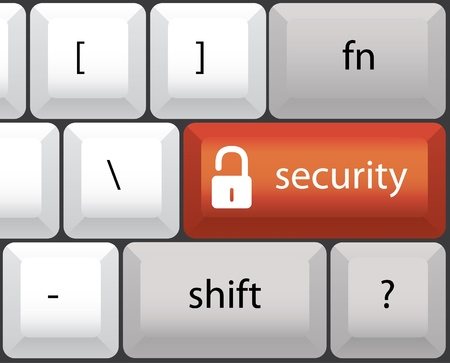 security symbol, keyboard illustration Vector