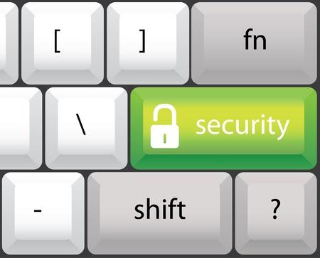 safety net: security symbol, keyboard illustration Illustration