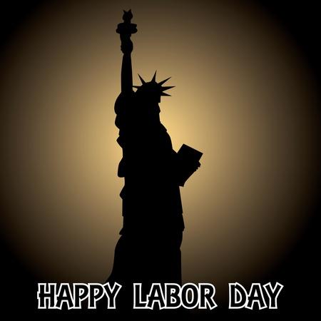 patriotic america: happy labor day - illustration