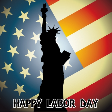 happy labor day - illustration Stock Vector - 12453438