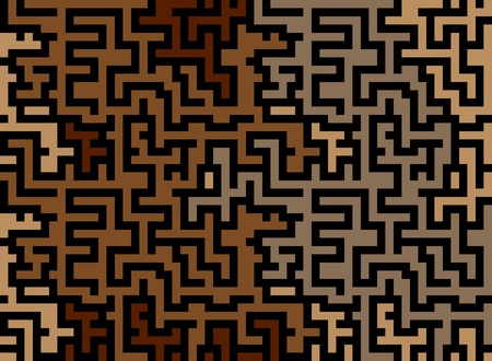 difficult to find: abstract seamless pattern of labyrinth Illustration