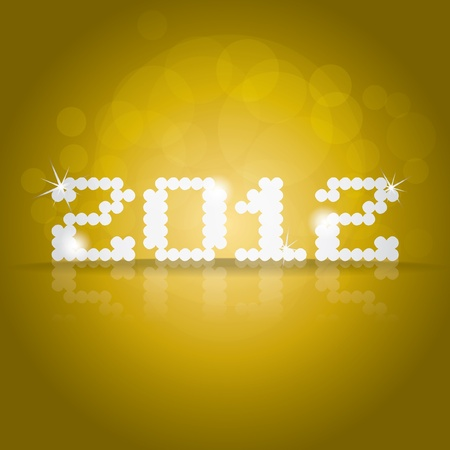 2012 theme on yellow background Stock Vector - 12450194