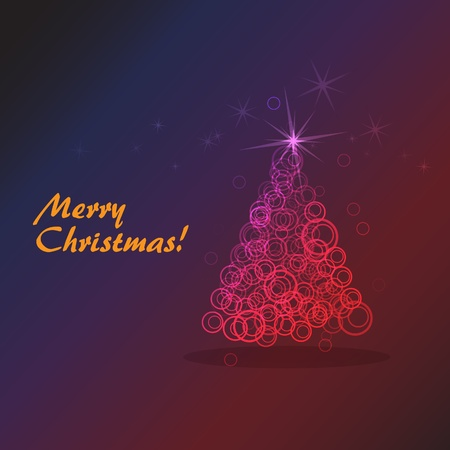 abstract christmas tree from the bubbles Vector