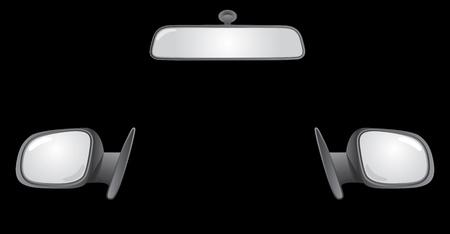 set of car rear back mirrors - illustration Stock Vector - 12454762