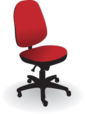 chaise de bureau isolé sur un fond blanc - illustration