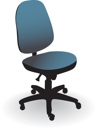 sedia ufficio: sedia da ufficio isolato su sfondo bianco - illustrazione