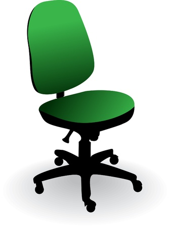 arm chair: office chair isolated on a white - illustration