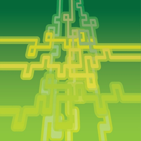 Abstract background with pipes - illustration