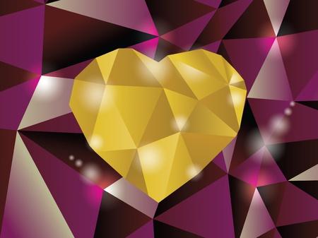 heart diamond: Abstract diamond heart illustration in eps10 Illustration