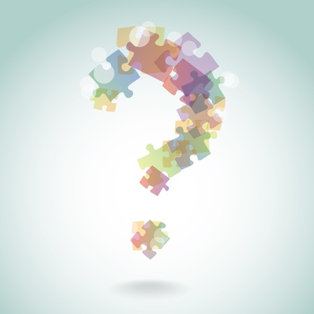 abstract illustration of question mark Vector