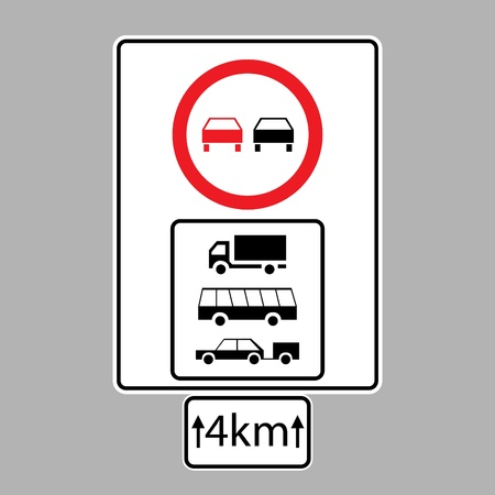 set of road signs - isolated illustration Vector