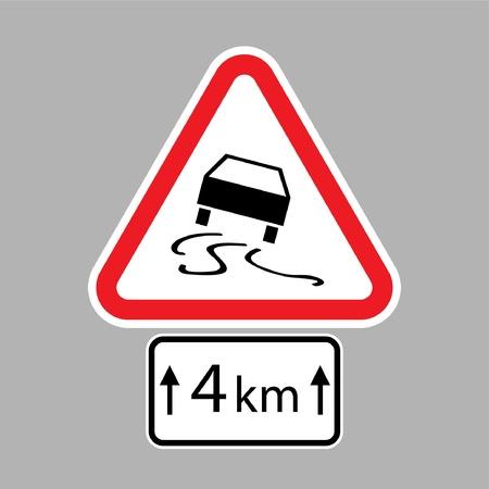 piktogramm: set of road signs - isolated illustration Illustration