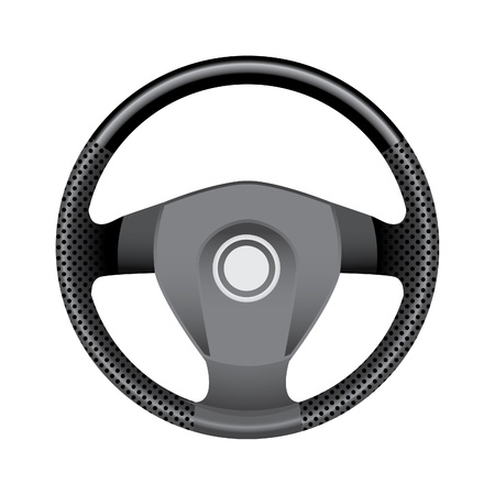 steering: Steering wheel - realistic illustration