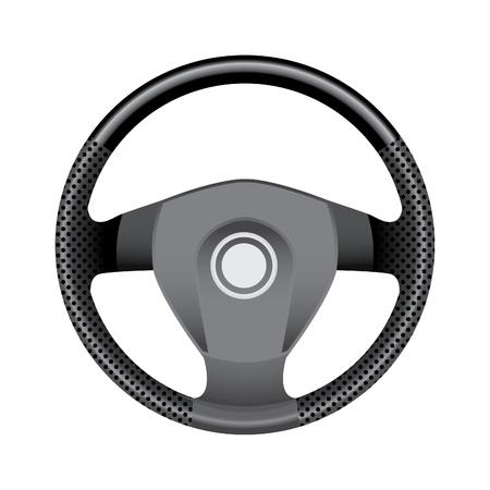 steering: Steering wheel - realistic illustration