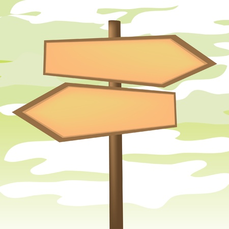 trekking pole: Blank Directional Arrow Sign - Illustration Illustration