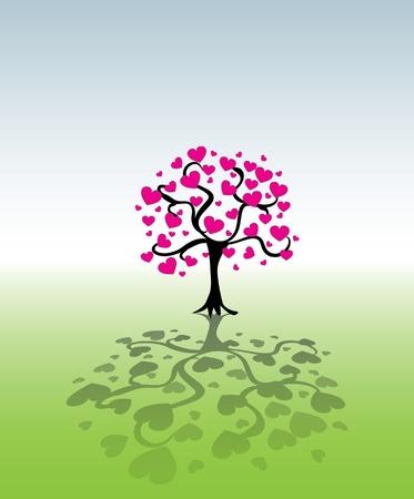 Baum von Herzen Leafs - Illustration