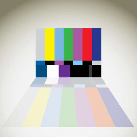 3d tv color ntsc test Stock Vector - 12453353