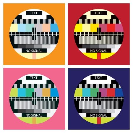 Tv prueba de color en el estilo del arte pop - ilustración Foto de archivo - 12453524