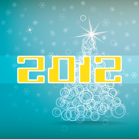 2012 abstract christmas tree Vector
