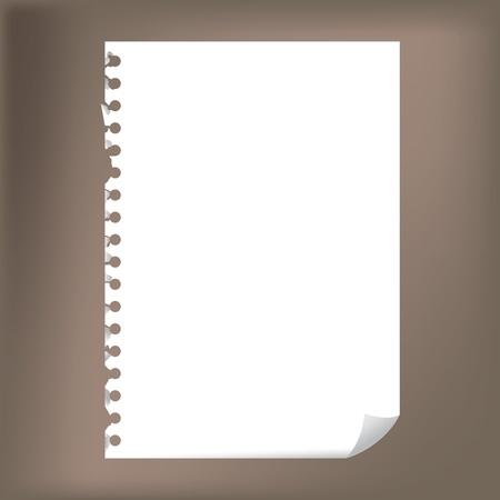 docs: Close up of blank notepad paper - illustration